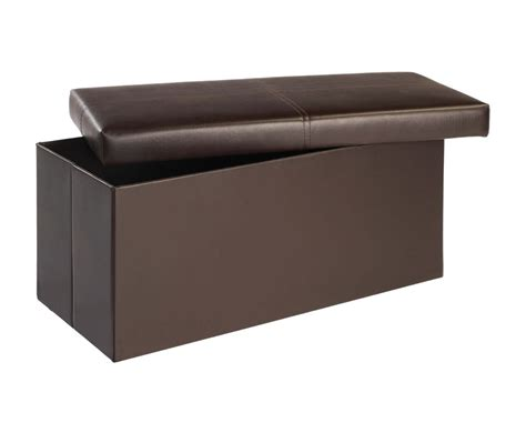 large brown faux leather ottoman bellville large brown faux leather ottoman just ottomans