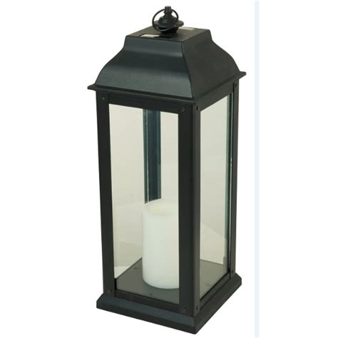 solar powered decorative lanterns 5 94 in x 16 in black glass solar outdoor decorative