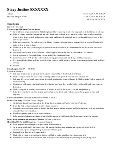 library assistant resume exle humboldt county library