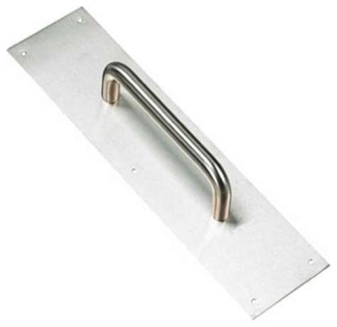 richelieu antimicrobial steel door pull 7 quot plate 35x15