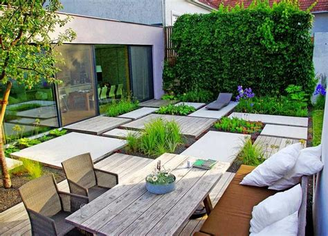 narrow house garden design   minimalist style