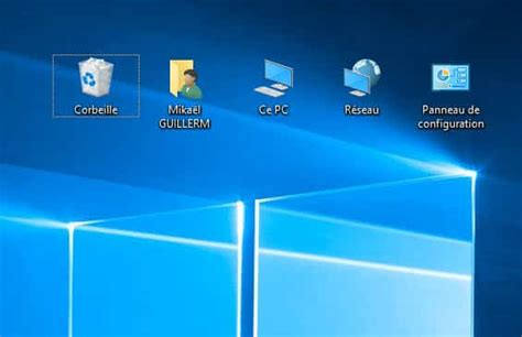 bureau windows windows 10 afficher ce pc panneau de