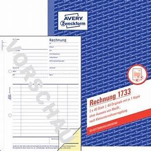 Rechnung Kleinunternehmer 19 : avery zweckform 1733 rechnung f r kleinunternehmer din a5 ~ Themetempest.com Abrechnung