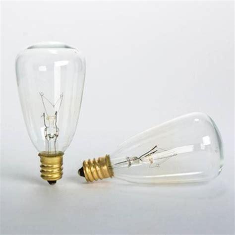 string light replacement bulbs gerson 93369 7 watt st35 candelabra base clear 2
