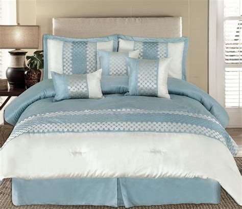 light blue and grey bedding king 7pc andrea light blue luxury bedding set lyle