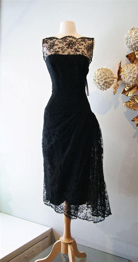 vintage cocktail dresses  black lace prom dress sheer