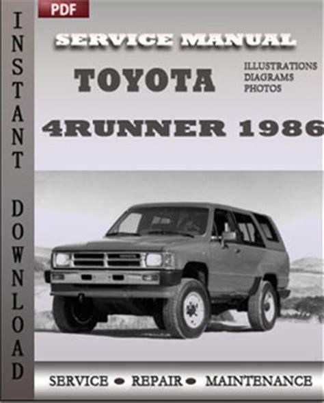 toyota  runner repair manual