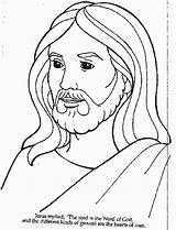 Coloring Jesus Loves Everyone Children Popular sketch template