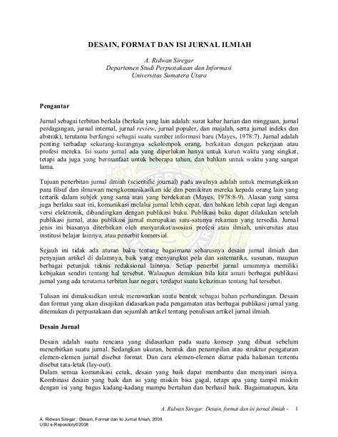 Contoh Penulisan Notulen Dalam Diskusi by Format Jurnal Ilmiah