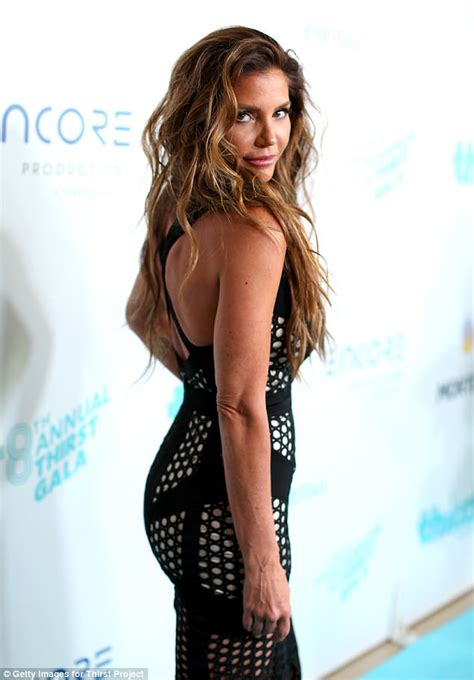 white evening gown charisma carpenter wears sheer gown at thirst gala daily