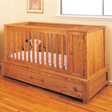 buy woodworking project paper plan  build crib  bed