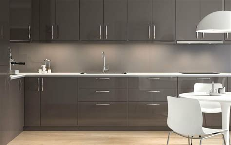 Ikea Kitchen Cabinets High by Ikea Ringhult Gloss Grey Kitchen Cabinet Doors And Drawer