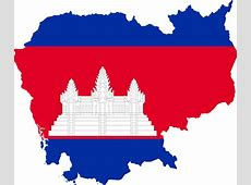 Clipart Cambodia Map Flag