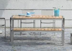 Table Banc Exterieur : banc de table de jardin en teck de qualit chez ~ Teatrodelosmanantiales.com Idées de Décoration
