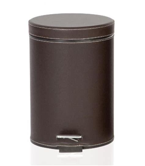 poubelle de salle de bain 224 p 233 dale en similicuir marron andrea house wadiga