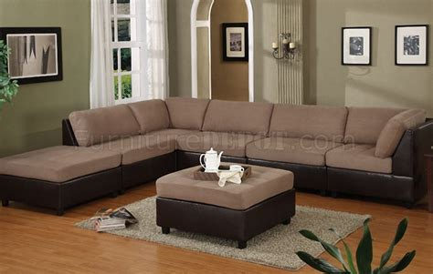 modular sectional sofa microfiber saddle microfiber contemporary modular 6pc sectional sofa