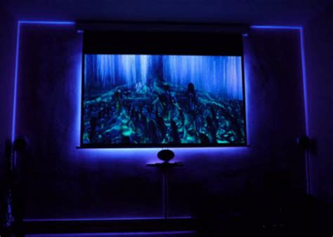 create backlighting   projection screen