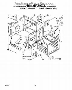 Parts For Whirlpool Rf366pxyw0  Oven Unit Parts