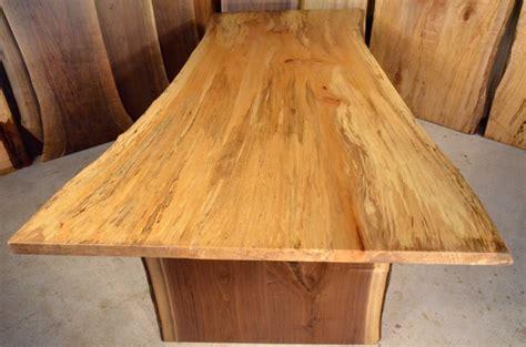 sycamore table  thick walnut base dumonds custom