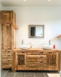Salle De Bain En Bois : best vanite salle de bain bois images awesome interior ~ Dailycaller-alerts.com Idées de Décoration