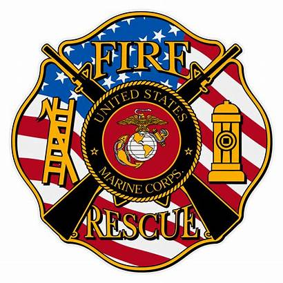 Maltese Fire Cross Rescue Marine Decal Decals