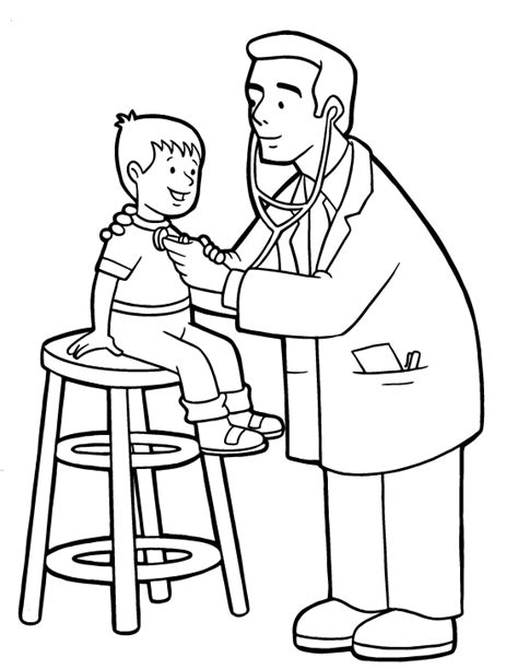 jobs coloring kids doctors hospitals coloring pages