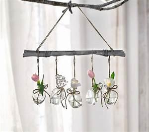 Fensterdeko Zum Aufhängen : deko h nger country flair weidenstock mit 5 kleinen glasvasen fensterdeko neu kaufen bei ~ Eleganceandgraceweddings.com Haus und Dekorationen