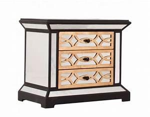 Table De Nuit Miroir : table de nuit miroir chic art d co avec 3 tiroirs vical home ~ Teatrodelosmanantiales.com Idées de Décoration