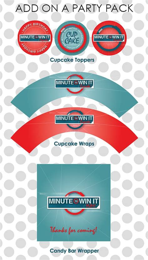 Minute to win it holiday party + tons of free printables. Minute To Win It Birthday Invitation Printable Boy or Girl ...