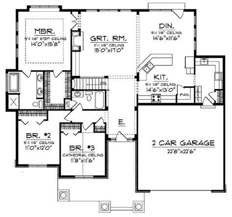 open floor ranch house plans open concept floor plan for ranch with spacious interior
