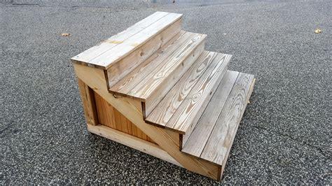 treated lumber custom  wood steps west  lumber