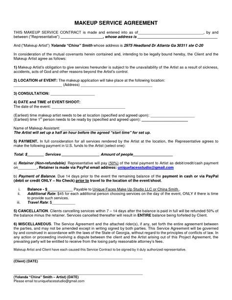 makeup artist contract form makeup artist consent form mugeek vidalondon