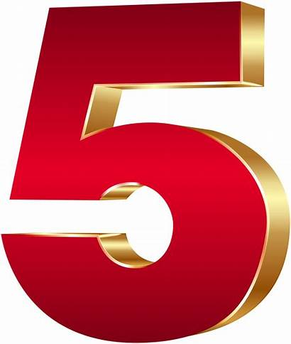 Number Five Clip Clipart Numbers Graphics Transparent
