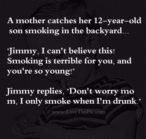 Smoking Mom Masturbates Son