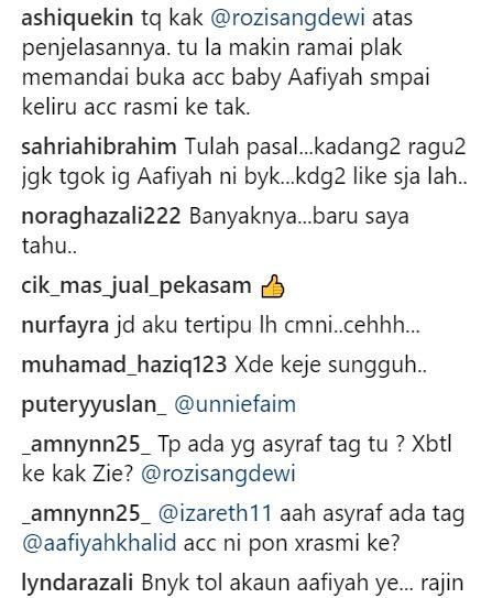 pa siti nurhaliza dedah lebih 60 account siti aafiyah di instagram