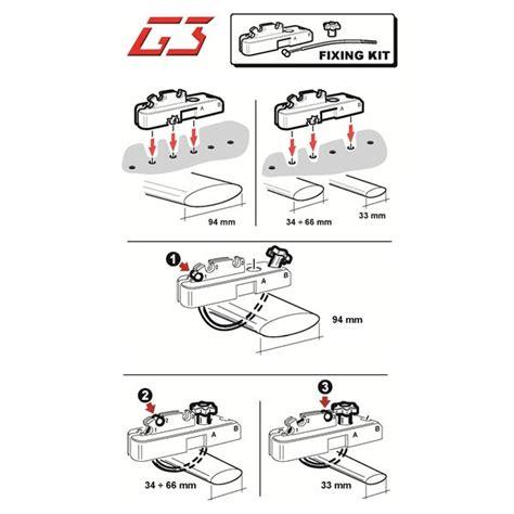 kit fixation coffre de toit kit de fixation des coffres g3 hydra pour barres de toit larges feu vert