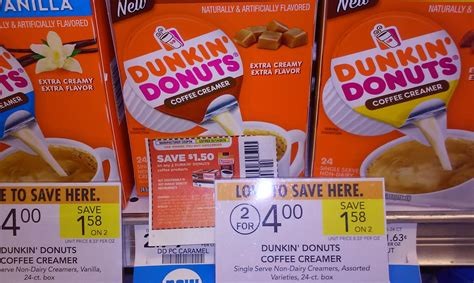 You can get the best discount of up to 90% off. New Dunkin Donut Coffee Creamers (Single Serve Boxes of 24) $1.25 Each | PUBLIX DEAL