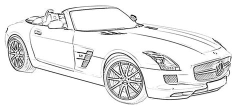 Mercedes-benz Coloring Pages Mercedes Benz Slk Class Page