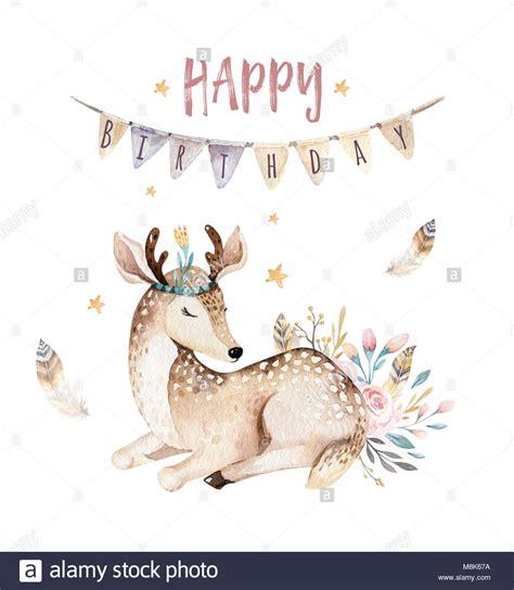 cute baby deer animal isole de pepiniere avec illustration
