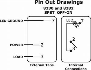 Wiring Single Pole Single Throw  Spst  Rocker Switch With