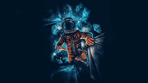 Best Anime Wallpaper 4k - artistic spaceman blue orange 4k wallpaper best wallpapers