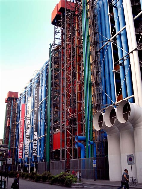 Centre Georges Pompidou, 1971-77, by Renzo Piano & Richard ...