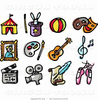 Clipart Collage Entertainment Industry Icons Digital Ballet