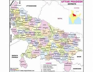 Buy Uttar Pradesh District Map