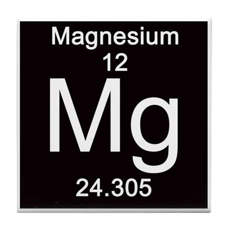 magnesium periodic table periodic table magnesium tile coaster by science lady