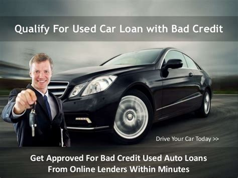 Best Used Car Loans For Bad Credit People