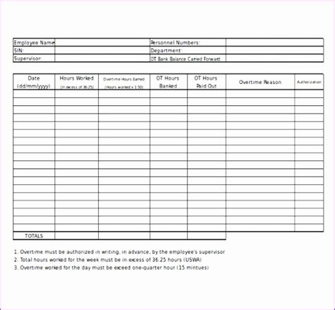 excel timesheet template  overtime exceltemplates