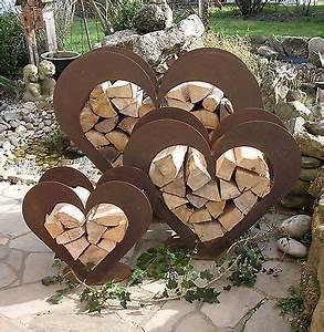 Holz Deko Garten : herz aus metall holz regal edel rost garten terrasse deko toll garten pinterest ~ Orissabook.com Haus und Dekorationen