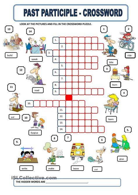 participle  images english grammar worksheets