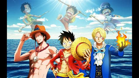 piece poster sabo luffy  ace youtube